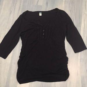 Old Navy Maternity Soft Tunic Side Ruching Sz L